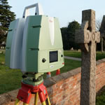 Leica P20 Laser Scanner outdoors
